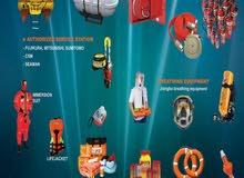بيع جميع انواع معدات السلامة البحرية وصيانتها