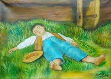 لوحة الفلاح الصغير الأصلية للفنان احمد صبري