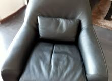 black leather arm chair super comfy hardly used bought from the ONE stores