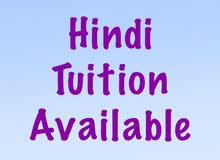 hindi tuitions abailable