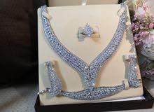 طقم زريكون تصاميم الماس نسائي فخم