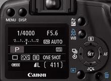 كاميرا كانون d1000 مع كامل الملحقات.الشاحن وعدد 2عدسات18-55+75-300
