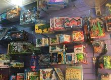 مكتبة قرطاسية وألعاب للبيع بموقع مميز