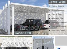Mashrabiya Car Parking Pergola Suppliers  Steel Car Parking  Car Parking Shade