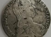 تالر او دولار ماريا تريزا من الفضه لعام 1780
