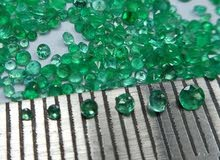 0.80 mm /1 mm / 1.5 mm / 2.0 mm  Natural Zambian Emerald / Round / Faceted / Diamond  Cut