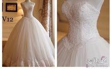 فستان زفاف للبيع جديد ولا لبسه