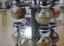 طقم بهارات زجاجي فااااخر وانيق