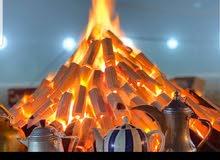 للبيع فحم بدون ريحة ودخان يتم اقل شي4 ساعات يصلح لشوي او لشيشة والاماكن المغلقة