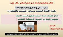 كتابة على الورد عربي وانجليزي