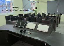 تجهيز وتوريد وتشغيل واختبار وصيانة معمل الصوتيات ( معمل اللغات )