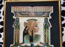 لوحات فرعونية قديمة مصنوعة من نبات الورق البردي