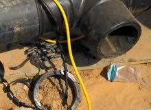 سباك عام خطوط مياه رئيسيه بولي اثلين لحام هيدروليك وكوبلين كهرباءوعدادات مياه