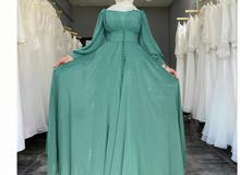 فستان شيفون مبطن بالوان جميله