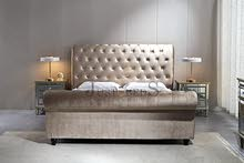 Brand New Suede Fabric Bed Frame