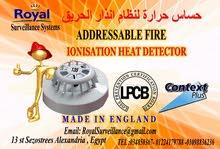 حساسات  حرارة الحريق  Addressableبأعتماد اوروبى