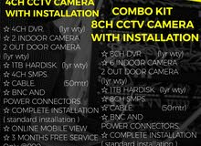 CCTV CAMERA 4CH FULL PACKAGE WITH INSTALLATION @ 900