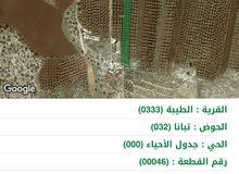 ارض للبيع مساحة 12 دونم للبيع اراضي الطيبة