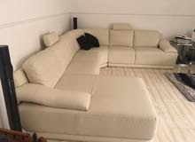Corner Sofa white, excellent condition, 6 months used for sale