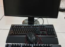 Gaming monitor and keyboards