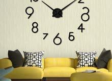 ساعة حائط 3D حجم كبير أرقام انكليزية