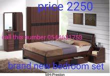 سرير مزدوج روزوود مع مرتبة للبيع