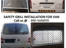 SAFETY GRILL Installation for Van