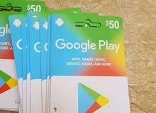بطاقات جوجل بلاي الامريكي