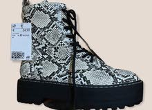 HM Snake Leather Half Boot