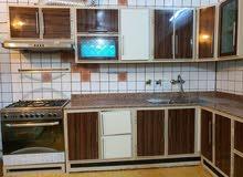 مطبخ كاونتر المنيوم  تصميم تركي السينك 2 حوض مرمر كرانيت من دون ساحبه و طباخ