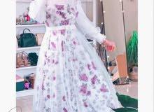 فستان كلوش ملكي  4قطع