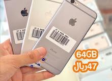 لحق حالك قبل نفاذ الكميه ايفون 6 اصلي مستعمل ذاكره 64 جيبي مع ضمان 30 يووووووووم
