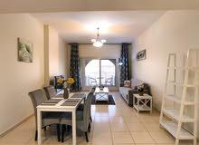 دبي قرية الجميرا الدائرية jvc  غرفة وصالة  مفروشة مع بلكونة - ايجار شهري