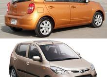 مطلوب سيارة hyundai I10 او Nissan Micra 2012 بسعر معقول