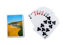ورق لعب بشعار الخطوط السعودية