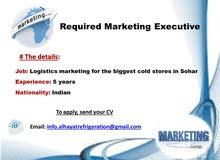 مدير مدير تسويق لوجستي هندي  / Logistics  Marketing Manager