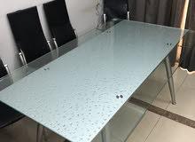 dinning table (extendable) طاولة الطعام