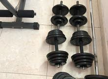 weights and bar and dunbilles. أوزان وبار دنبلان