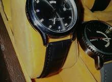 ساعة رولكس جلد طبيعى ( ROLEX )