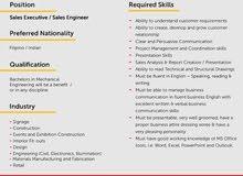 Sales Executives / Sales Engineers