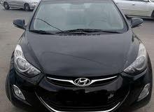 Black Hyundai Elantra 2013 for rent