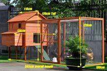 محاكر و بيوت خشبية للدجاج والحيوانات الاليفة Chicken Coop