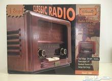 للبيع راديو تراثي خشبي ( كلاسيك ) رائع جداً