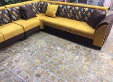 ديوان للبيع 8مقاعد 370 شارع فلسطين  لون اصفر    ديوان للبيع 8مقاعد 370 حي الجهاد