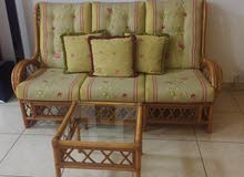 Sofa set with Tables 3+2+1+1 and 3 tables for sale