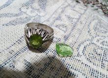 خاتم زبرجد حجر طاقه