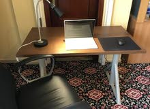 Ikea Adjustable Height Computer Desk (120 cm x 70cm ) & Executive Office Chair