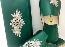 بلغة فاسية ممتازة (حذاء تقليدي مغربي) بطانة من الجلد