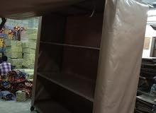 رف حديد مع غطاء خارجي مقاس 2م/عمق 60سم ارتفاع 2 م