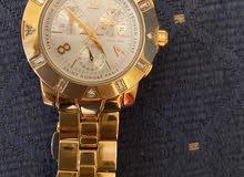 للبيع ساعة فرنسية ماركة سانت اونر ذهبية مطعمة بفصوص الماس اصلية